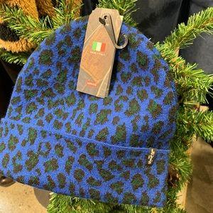Levi's Unisex Blue Leopard Beanie